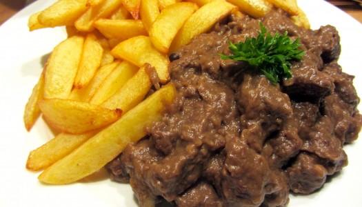 Patatje stoof met Belgisch stoofvlees